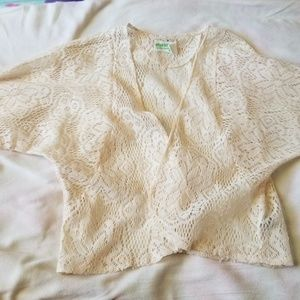 Laced see through cardigan